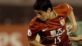 Darío Conca sous la tunique du Guangzhou Evergrande